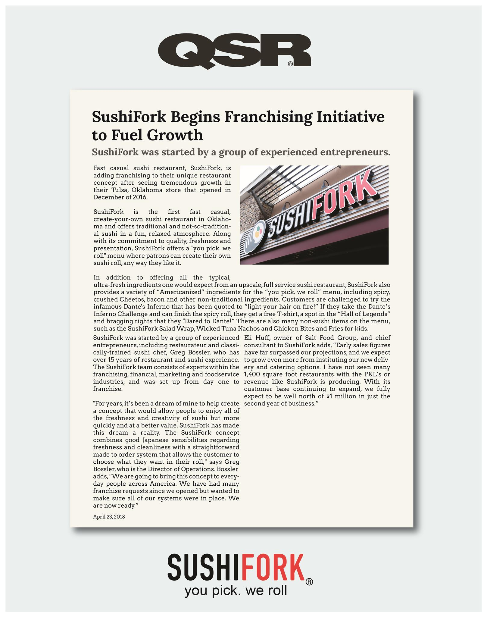 SushiFork Begins Franchising Initiative to Fuel Growth - QSR