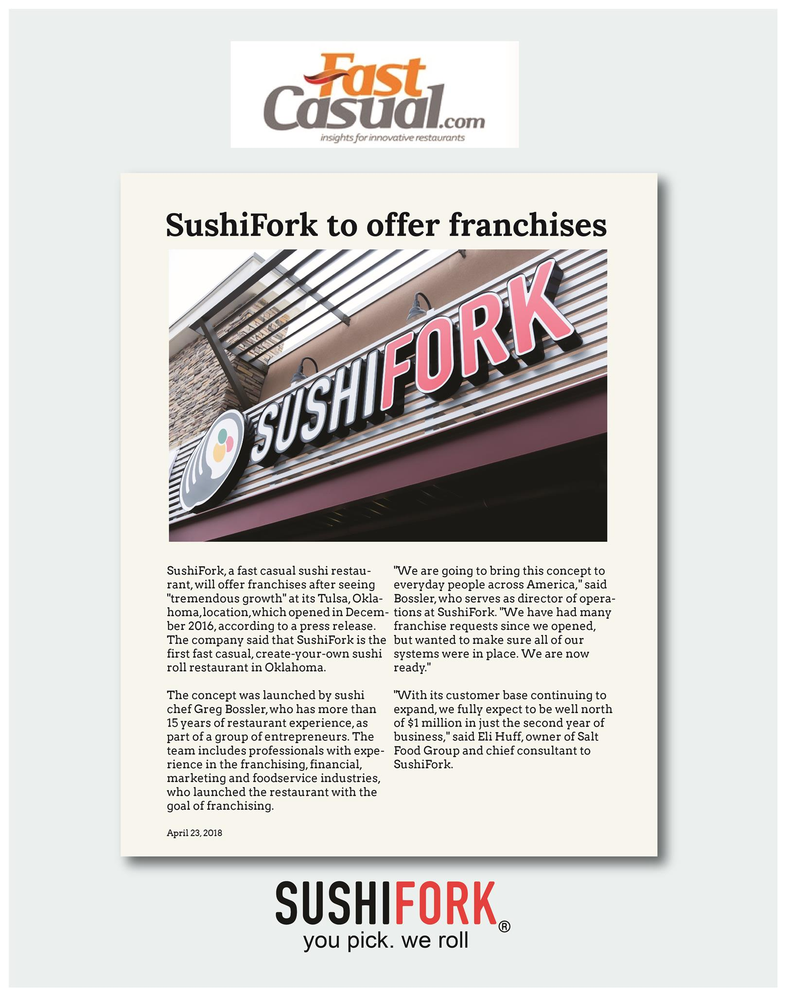 SushiFork to Offer Franchise - Fast Casual